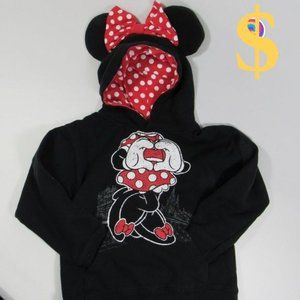 Disney I Love You Minnie Mouse Pullover Hoodie S